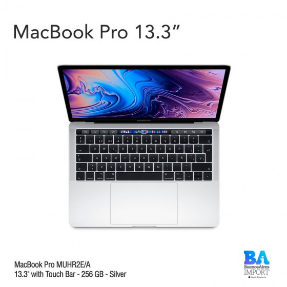 "MacBook Pro [MUHR2E/A] Touch ID/Bar 13,3"" 256GB Silver"