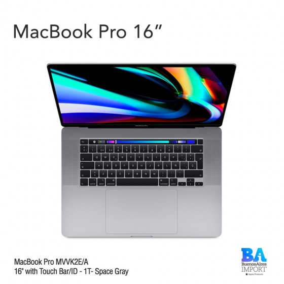 "MacBook Pro [MVVK2E/A] Touch ID/Bar 16"" 1T Space Gray"