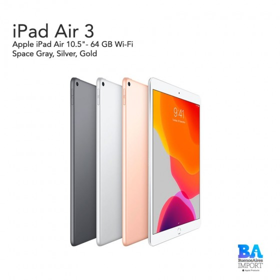 "Apple iPad Air 10.5""- 64 GB Wi-Fi"