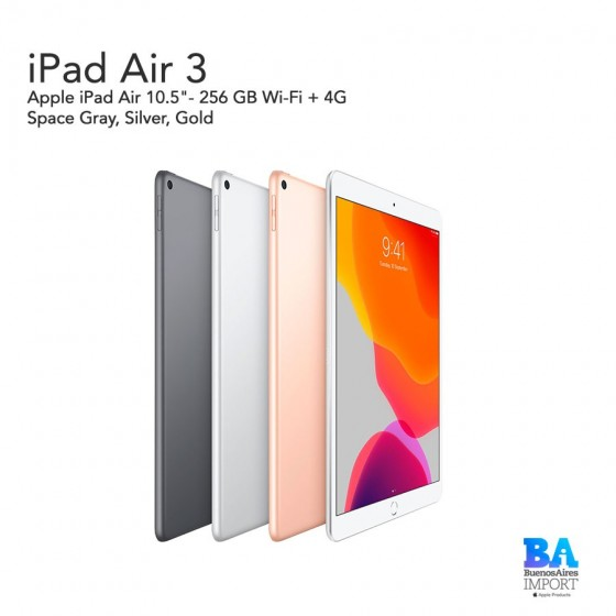 "Apple iPad Air 10.5""- 256 GB Wi-Fi + 4G"