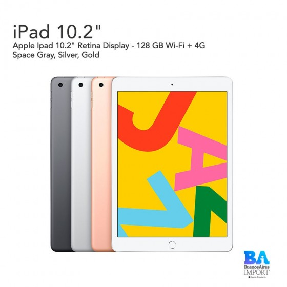 "Apple Ipad 10.2"" - 128 GB Wi‑Fi + 4G"