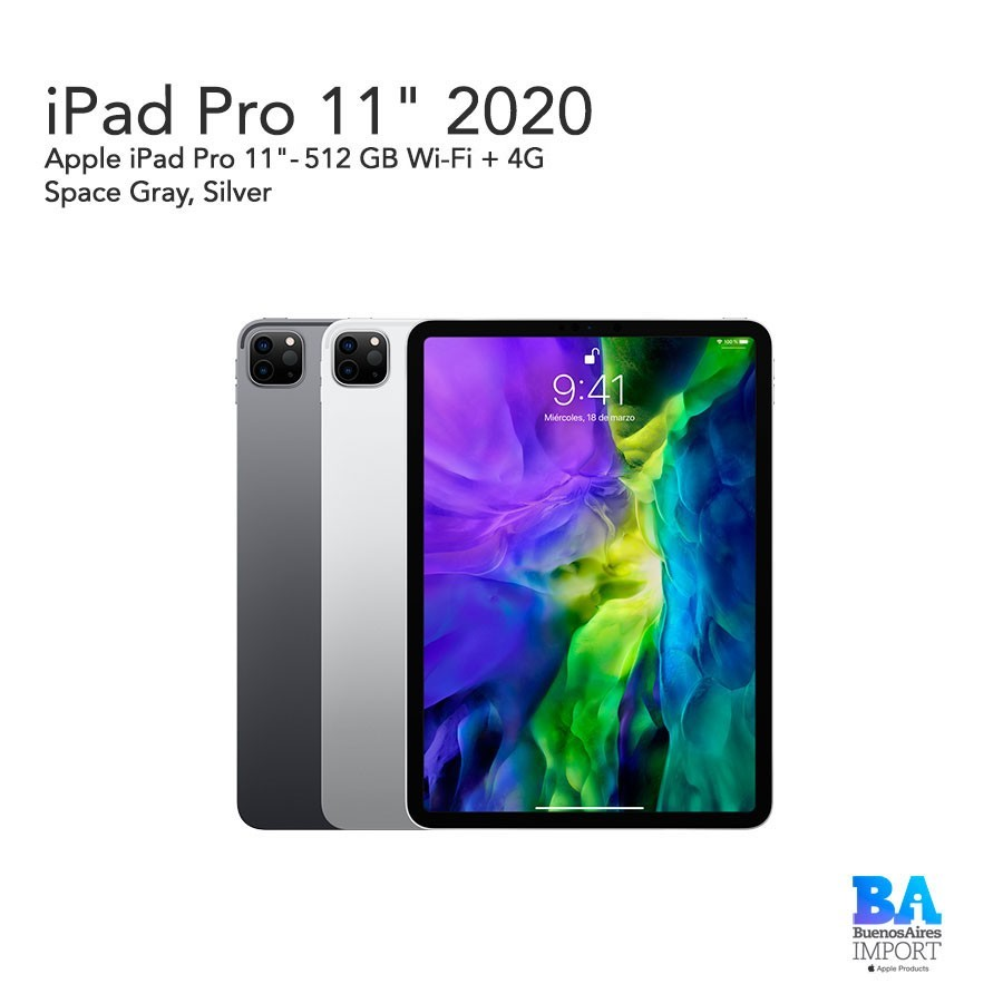 iPad Pro 11'- 512 GB WiFi + 4G 2020
