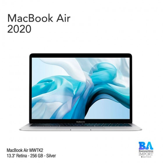 "MacBook Air 13.3"" Retina - 256 GB - Silver - 2020"