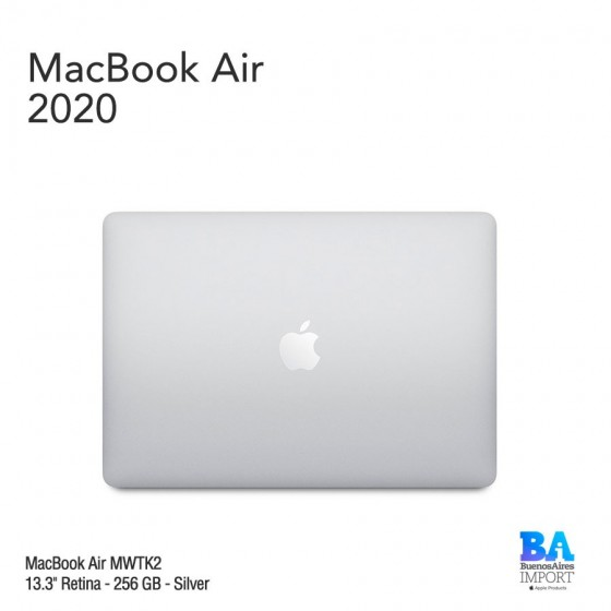 "MacBook Air 13.3"" Retina [MWTK2] i3 1.1 GHz 256 GB - Silver - 2020"