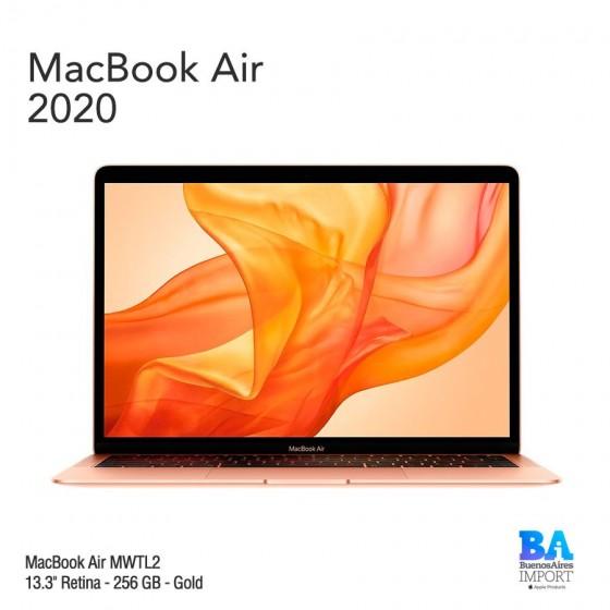 "MacBook Air 13.3"" Retina - 256 GB - Gold - 2020"