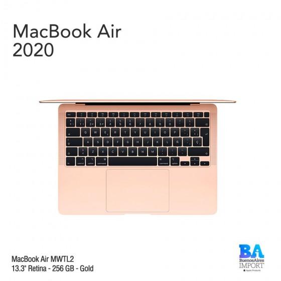 "MacBook Air 13.3"" Retina [MWTL2] i3 1.1 GHz 256 GB  - Gold - 2020"
