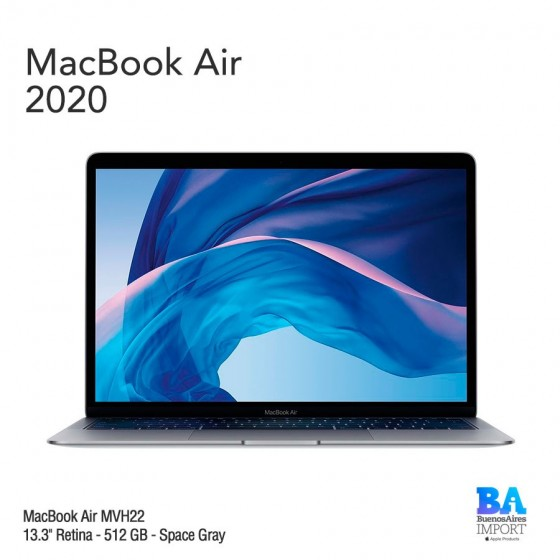 "MacBook Air 13.3"" Retina - 512 GB - Space Gray - 2020"