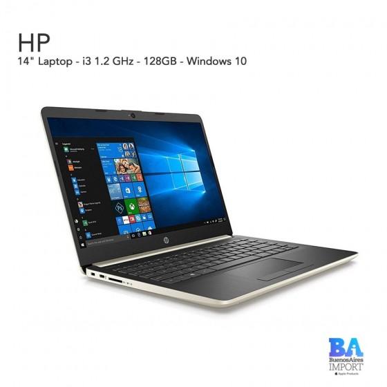 "HP 14"" Laptop - i3 - 1.2 GHz - 128 GB - Pale Gold"