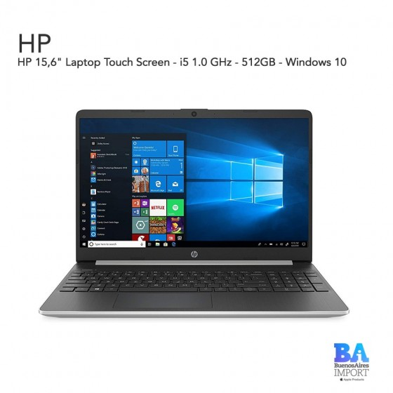 """HP 15,6"""" Laptop Touch Screen - i5 1.0 GHz - 512GB"""