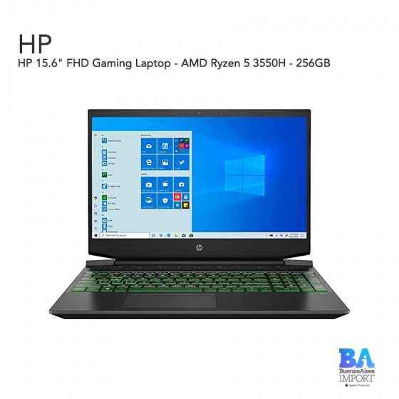 "HP 15.6"" FHD Gaming Laptop - AMD Ryzen 5 3550H - 256GB"