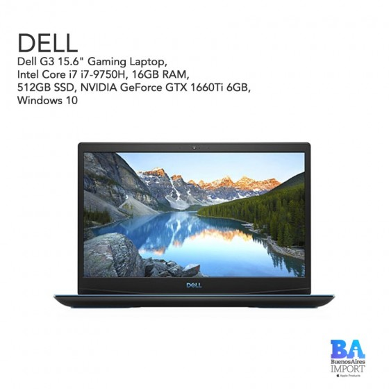 """Dell G3 15.6"""" Gaming Laptop - i7 2.6GHz - 512GB SSD"""