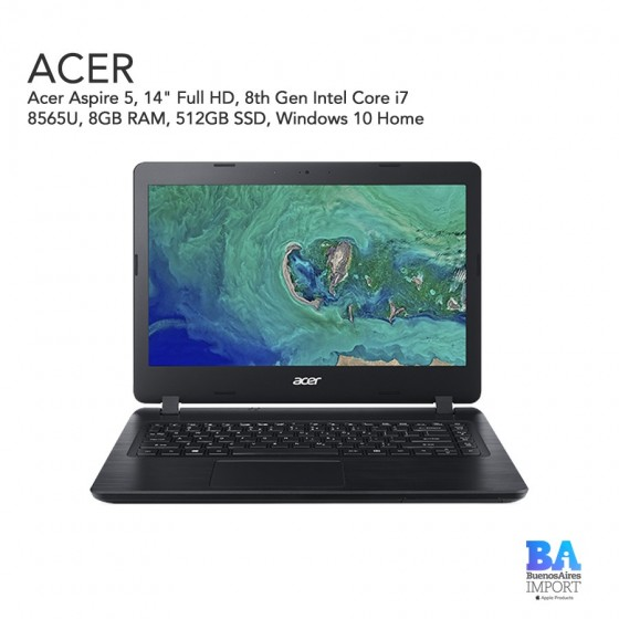 "Acer Aspire 5  14"" Full HD - I7 1.8 GHZ - 512 GB"