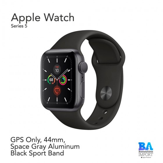 Apple Watch 44mm [SERIES 5] Space Gray Aluminum Case with Sport Band