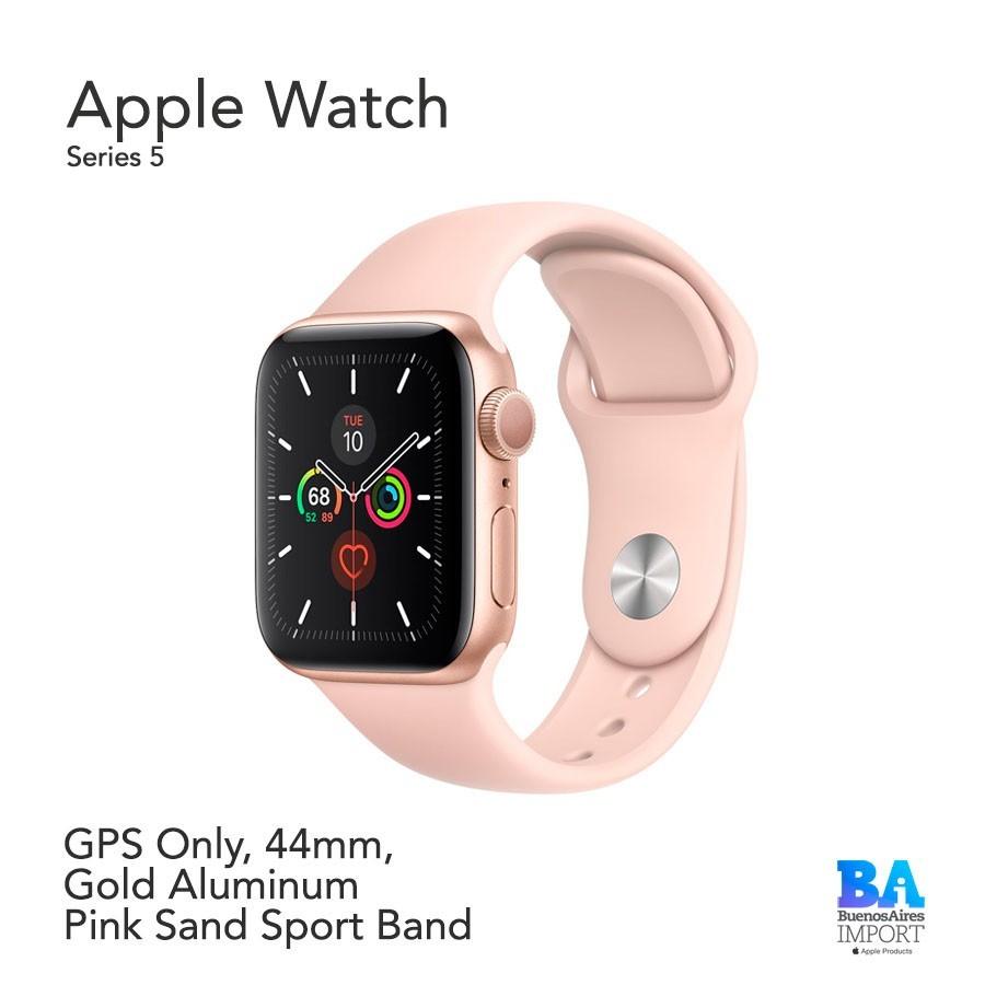 Apple Watch 44mm [SERIES 5] Gold Aluminum  Pink Sand Sport Band