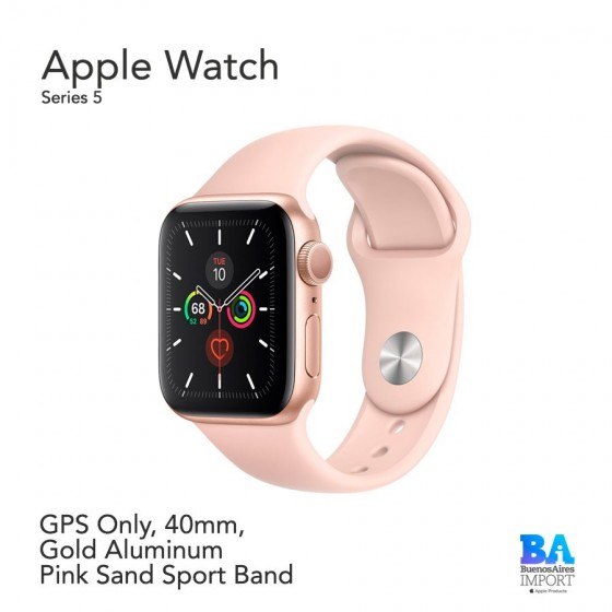 Apple Watch 40mm [SERIES 5] Gold Aluminum  Pink Sand Sport Band