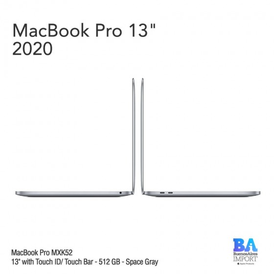 "MacBook Pro 13"" [MXK52] i5 1.4 GHz Touch ID/Bar 512 GB - Space Gray"