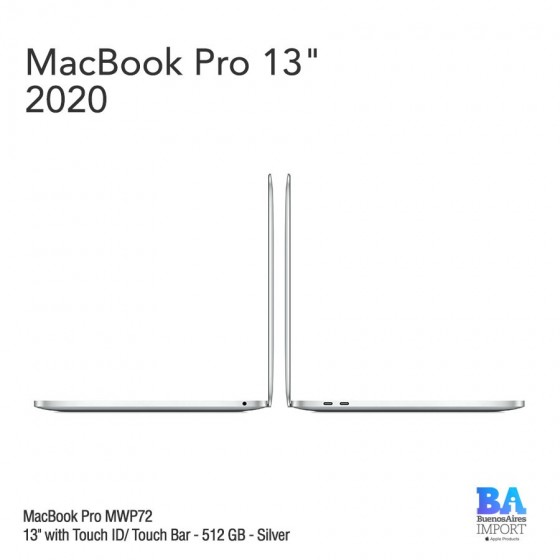 "MacBook Pro 13"" [MWP72] i5 2.0 GHz Touch ID/Bar 512 GB - Silver"