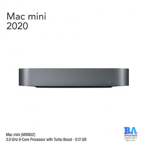 Mac Mini [MXNG2] i5 3.0 GHz 6-core Processor - 512 GB