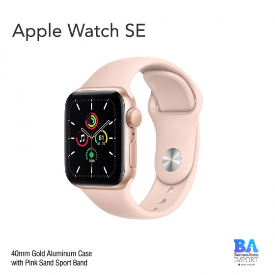 Apple Watch 40mm [SE] Gold Aluminum Case with Pink Sand Sport Band