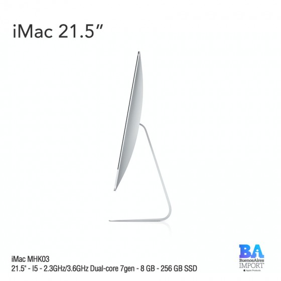 "iMac 21.5"" (MHK03) I5 - 2.3GHz/3.6GHz Dual-core 7gen - 8 GB - 256 GB SSD"