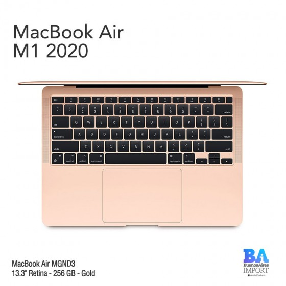 "MacBook Air 13.3"" Retina [MGND3] M1 Chip 256 GB - Gold"