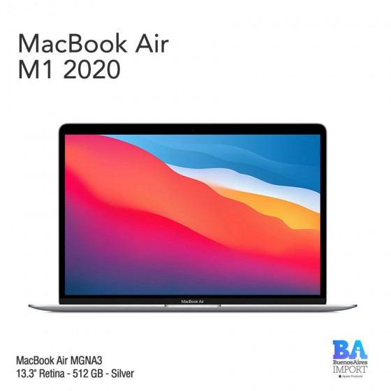 "MacBook Air 13.3"" Retina [MGNA3] M1 Chip i8 512 GB - Silver"
