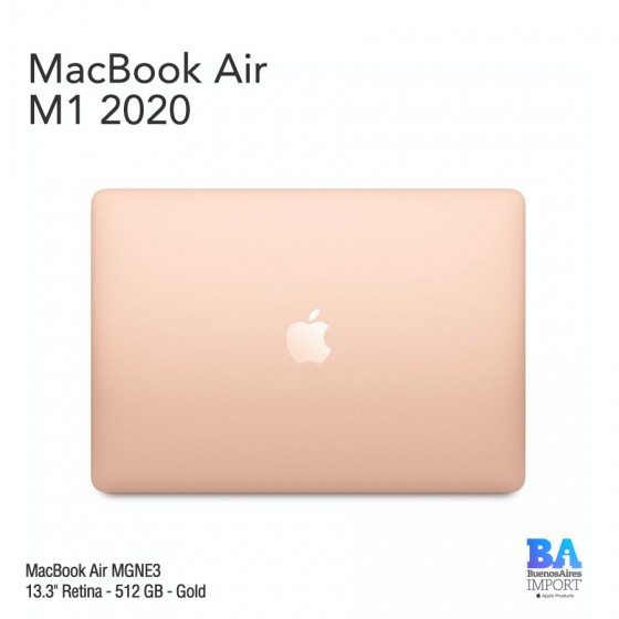 "MacBook Air 13.3"" Retina [MGNE3] M1 Chip i8 512 GB - Gold"