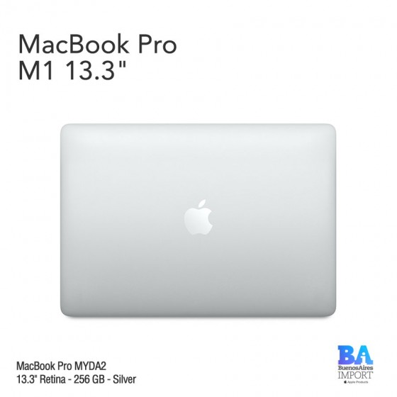 "MacBook Pro 13.3"" Retina [MYDA2] M1 Chip 256 GB - Silver"