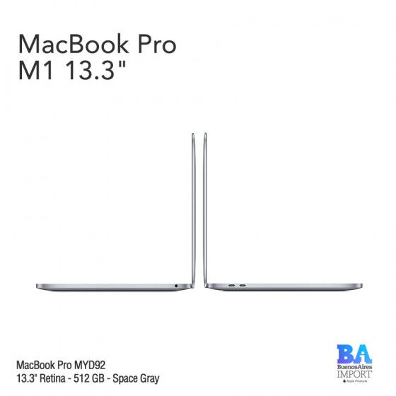 "MacBook Pro 13.3"" Retina [MYD92] M1 Chip 512 GB - Space Gray"