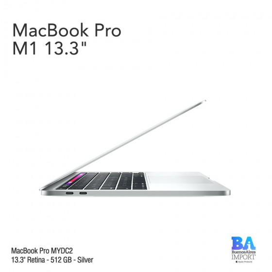 "MacBook Pro 13.3"" Retina [MYDC2] M1 Chip 512 GB - Silver"