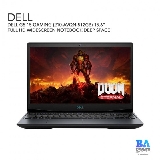 """DELL G5 15 GAMING (210-AVQN-512GB) 15.6"""" FULL HD WIDESCREEN NOTEBOOK DEEP SPACE"""