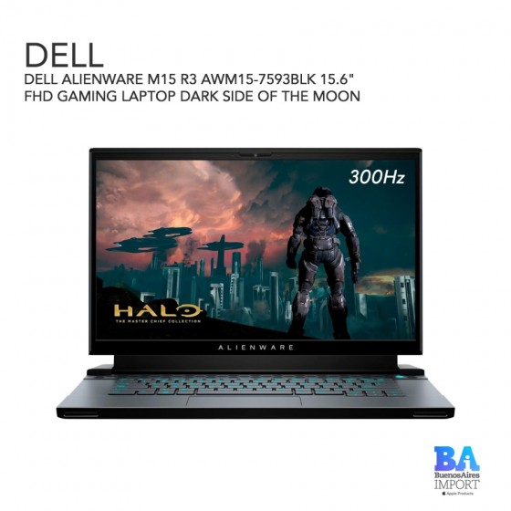 """DELL ALIENWARE M15 R3 AWM15-7593BLK 15.6"""" FHD GAMING LAPTOP DARK SIDE OF THE..."""