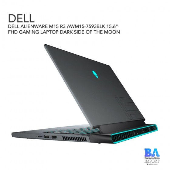 """DELL ALIENWARE M15 R3 AWM15-7593BLK 15.6"""" FHD GAMING LAPTOP DARK SIDE OF THE MOON"""