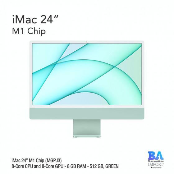 "iMac 24"" M1 Chip (MGPJ3) with 8-Core CPU and 8-Core GPU 512 GB, GREEN"