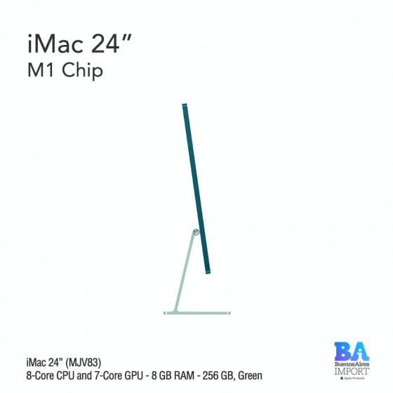 "iMac 24"" M1 Chip (MJV83) with 8-Core CPU and 7-Core GPU 256 GB, GREEN"