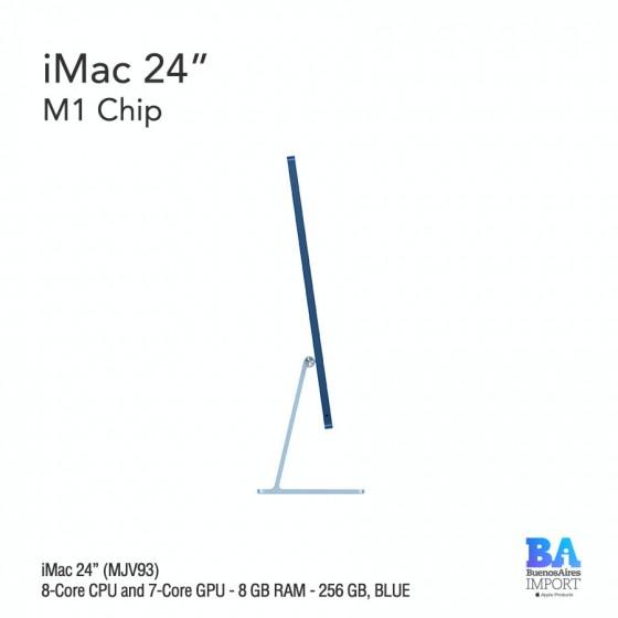 """iMac 24"""" M1 Chip (MJV93) with 8-Core CPU and 7-Core GPU 256 GB, BLUE"""