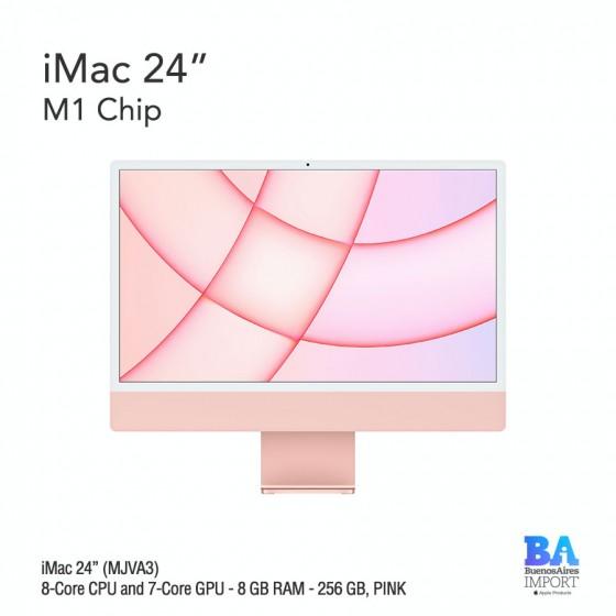 "iMac 24"" M1 Chip (MJVA3) with 8-Core CPU and 7-Core GPU 256 GB, PINK"