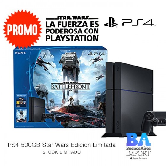 PS4 + JUEGO STAR WARS [VERSION LIMITADA]