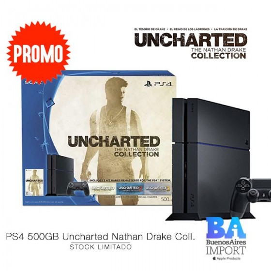 Play Station 4 + Uncharted Nathan Drake Collection