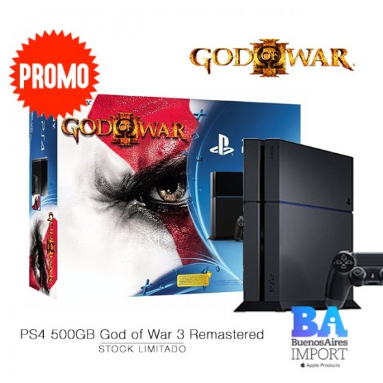 Play Station 4 + JUEGO God of War® III Remastered